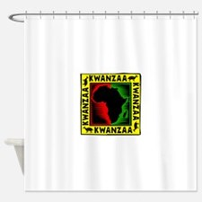 Celebrate Kwanzaa african print.png Shower Curtain