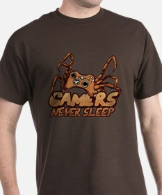 Gamers never sleep T-Shirt