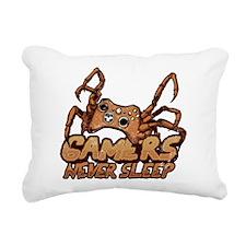 Gamers never sleep Rectangular Canvas Pillow