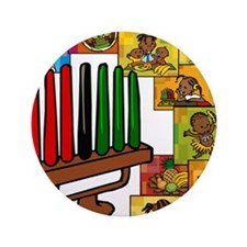 "Celebrate Kwanzaa Together collage.png 3.5"" Button"