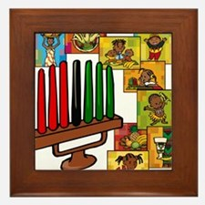 Celebrate Kwanzaa Together collage.png Framed Tile