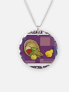 Celebrate Kwanzaa Fruit purple Necklace