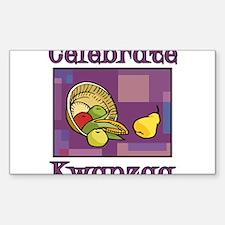 Celebrate Kwanzaa Fruit purple Decal