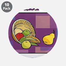 """Celebrate Kwanzaa Fruit purple 3.5"""" Button (10 pac"""