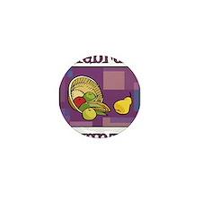 Celebrate Kwanzaa Fruit purple Mini Button (100 pa