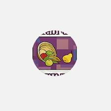 Celebrate Kwanzaa Fruit purple Mini Button