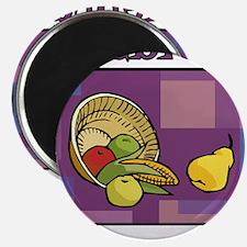 Celebrate Kwanzaa Fruit purple Magnets