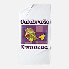 Celebrate Kwanzaa Fruit purple Beach Towel