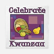 Celebrate Kwanzaa Fruit purple Queen Duvet