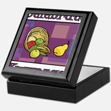 Celebrate Kwanzaa Fruit purple Keepsake Box