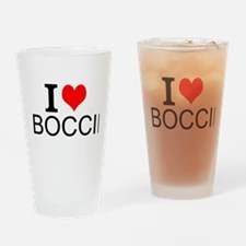 I Love Boccie Drinking Glass