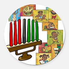 Celebration of Kwanzaa kinara & collage.png Round