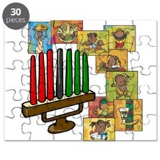 Celebration of Kwanzaa kinara & collage.png Puzzle