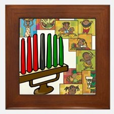 Celebration of Kwanzaa kinara & collage.png Framed