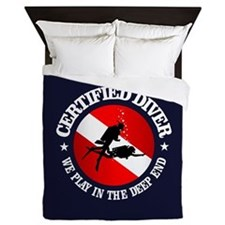 Certified Diver (Deep End) Queen Duvet