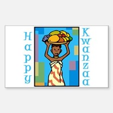 Lady Happy Kwanzaa with fruit Decal