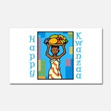 Lady Happy Kwanzaa with fruit Car Magnet 20 x 12