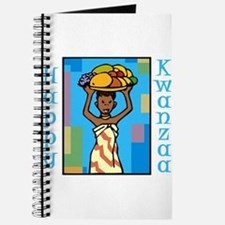 Lady Happy Kwanzaa with fruit Journal
