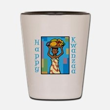 Lady Happy Kwanzaa with fruit Shot Glass