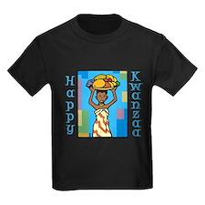 Lady Happy Kwanzaa with fruit T-Shirt