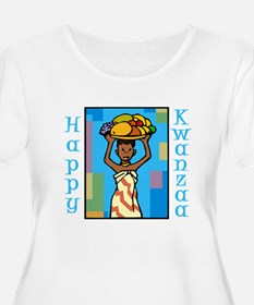 Lady Happy Kwanzaa with fruit Plus Size T-Shirt