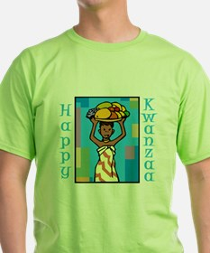Lady Happy Kwanzaa with fruit T-Shirt