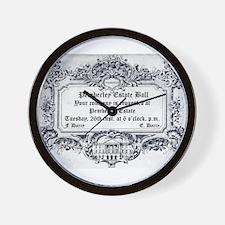 Pemberley Estate Ball Wall Clock