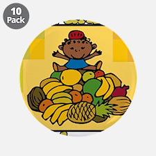 """Kid & Fruit Kwanzaa Celebration.png 3.5"""" Button (1"""