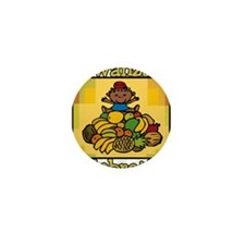 Kid & Fruit Kwanzaa Celebration.png Mini Button (1