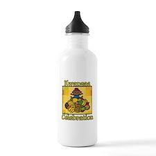 Kid & Fruit Kwanzaa Celebration.png Water Bottle