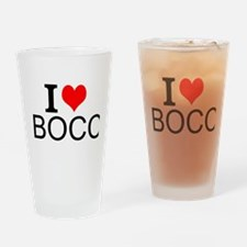 I Love Bocci Drinking Glass