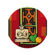 "Celebrate Kwanzaa Mkeka.png 3.5"" Button"