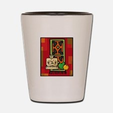 Celebrate Kwanzaa Mkeka.png Shot Glass