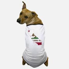 CALIFORNIA FLAG and STATE Dog T-Shirt