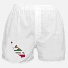 CALIFORNIA FLAG and STATE Boxer Shorts