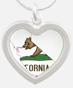 CALIFORNIA FLAG and STATE Necklaces