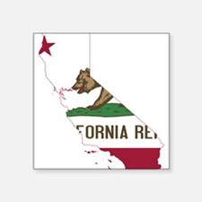 CALIFORNIA FLAG and STATE Sticker
