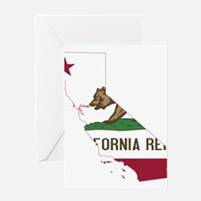 CALIFORNIA FLAG and STATE Greeting Cards