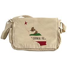 CALIFORNIA FLAG and STATE Messenger Bag