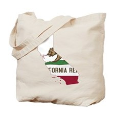 CALIFORNIA FLAG and STATE Tote Bag