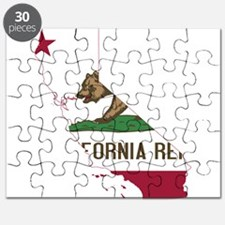 CALIFORNIA FLAG and STATE Puzzle