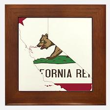 CALIFORNIA FLAG and STATE Framed Tile