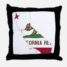 CALIFORNIA FLAG and STATE Throw Pillow