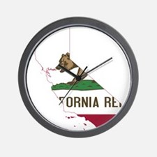 CALIFORNIA FLAG and STATE Wall Clock