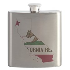 CALIFORNIA FLAG and STATE Flask