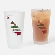 CALIFORNIA FLAG and STATE Drinking Glass