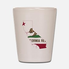 CALIFORNIA FLAG and STATE Shot Glass