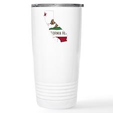 CALIFORNIA FLAG and STATE Travel Mug