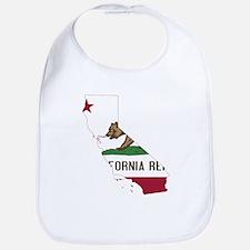 CALIFORNIA FLAG and STATE Bib