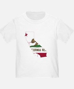 CALIFORNIA FLAG and STATE T-Shirt